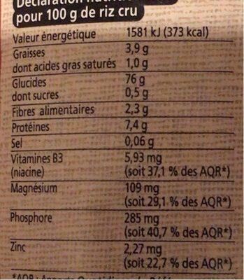 Melange Riz Germe Gaba Commerce Equitable - Informations nutritionnelles