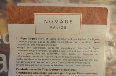 Figues Zagros - Ingredients