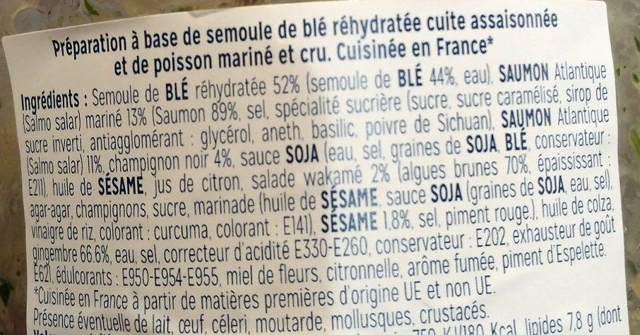 Salade de Saumon Pâtes Perles Asiatique - Ingrédients - fr