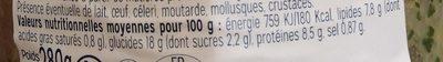 Salade de Saumon Pâtes Perles Asiatique - Informations nutritionnelles - fr