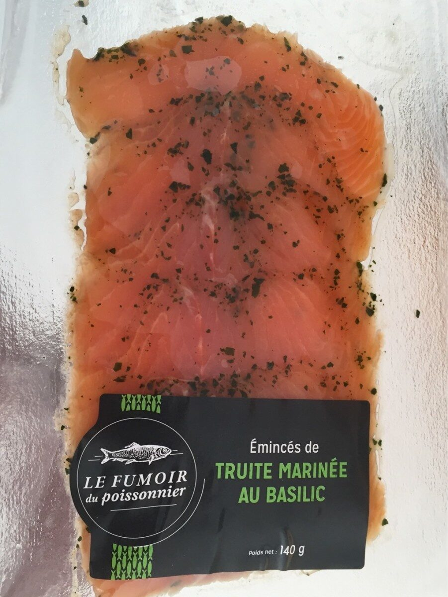 Truite marinée au basilic - Product