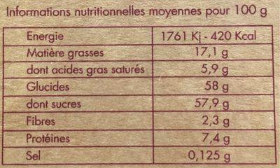 9 Macarons Frais Assortis - Informations nutritionnelles - fr