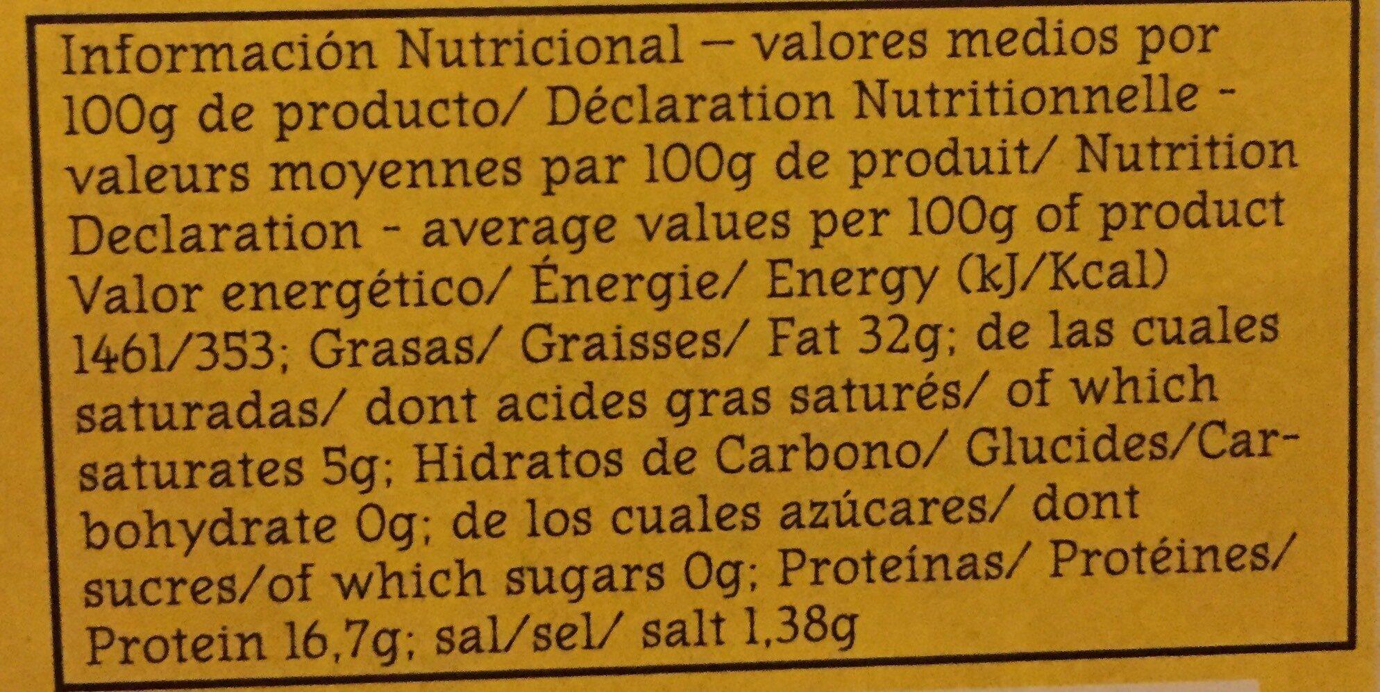 Poulpes à La Marinière - Informations nutritionnelles - fr
