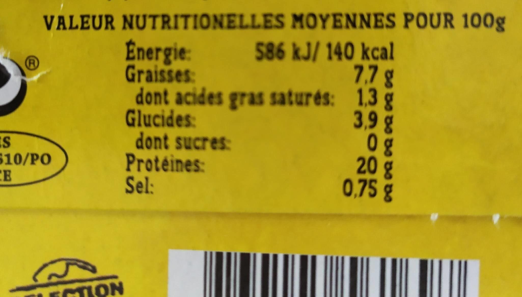 Moules à l'escabeche - Nutrition facts - fr