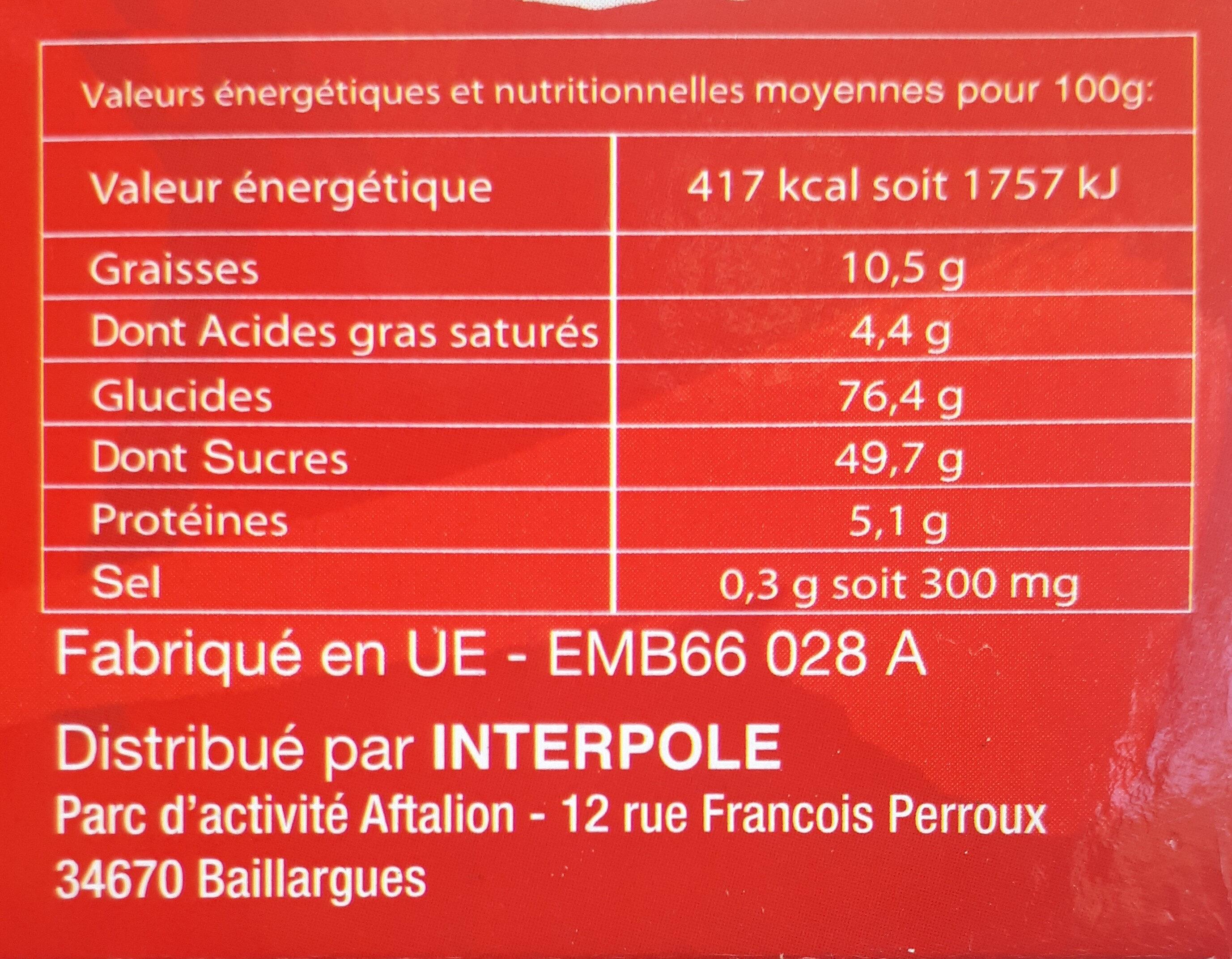 Rousquilles - Informations nutritionnelles - fr