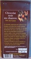 Chocolat noir au chanvre - Nutrition facts