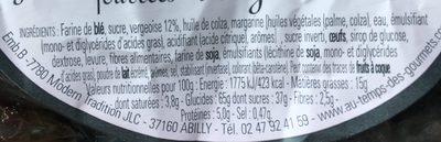 Gaufrettes Fourrées Vergeoises - Ingredients