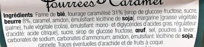 gaufres fourrées caramel - Ingrédients