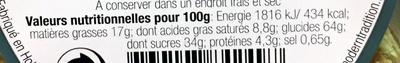 gaufres fourrées caramel - Informations nutritionnelles