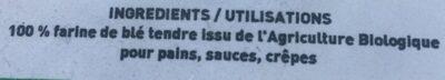 Farine bise de ble tendre type 80 - Ingrediënten