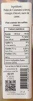 Vinaigre de Calamansi - Ingredients - fr