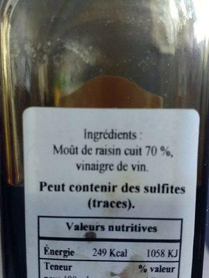 Vinaigre balsamique excellence - Ingredients - fr