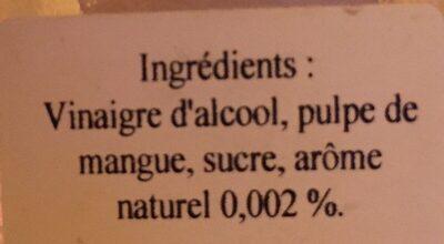 Vinaigre de mangue - Ingredients