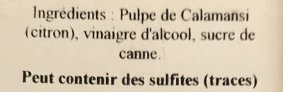 Vinaigre De Citron - Ingredients - fr