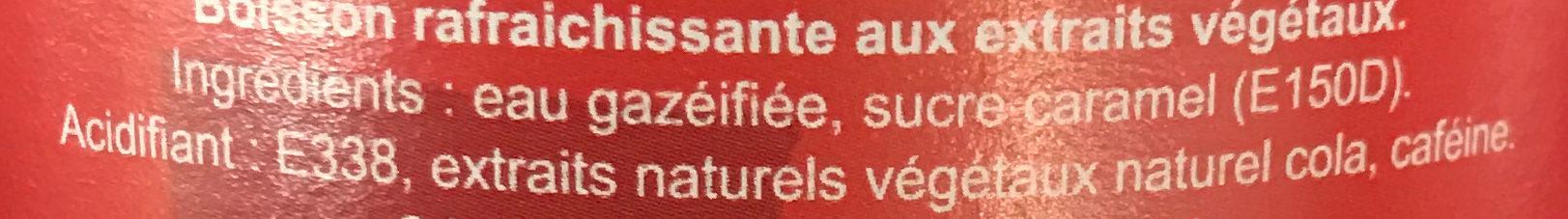 Chtilà Cola - Ingredienti - fr