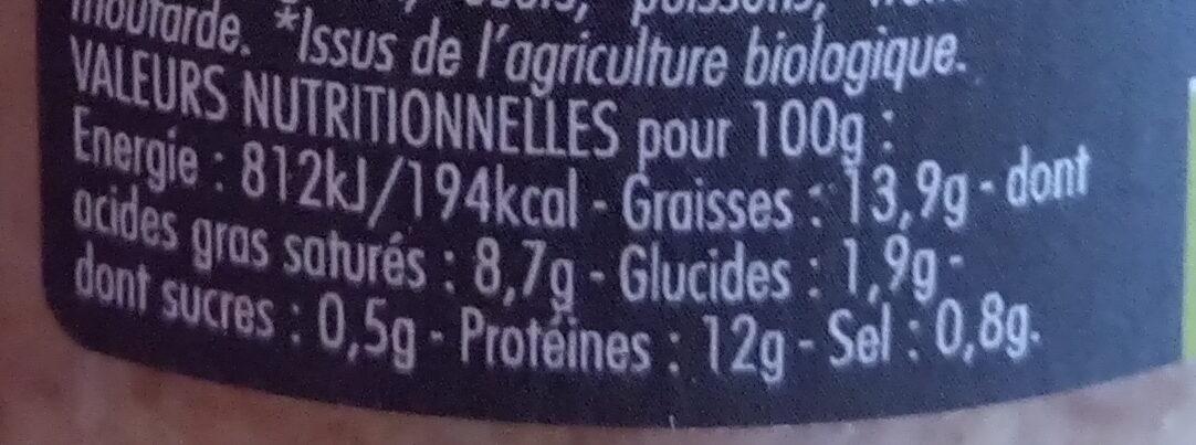 Rillettes de St Jacques - Nutrition facts - fr