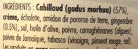 Cabillaud - Ingredients