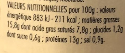 Cabillaud - Nutrition facts