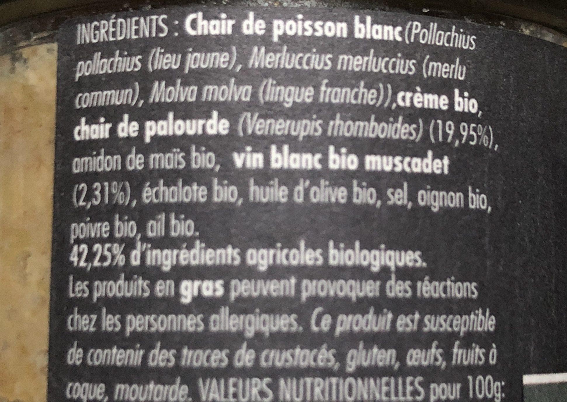 Rillettes de Palourdes au Muscadet - Ingrediënten