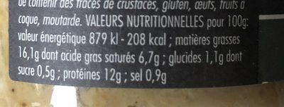 Rillettes de Palourdes au Muscadet - Voedingswaarden