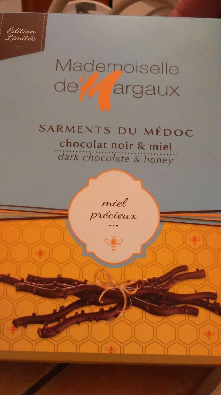 Sarments du medoc chocolat noir et miel - Product