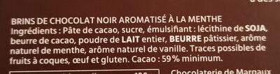 Sarments du Medoc - Ingrédients - fr