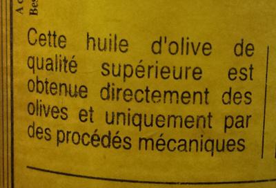 Huile d'olive vierge extra - Ingredienti - fr