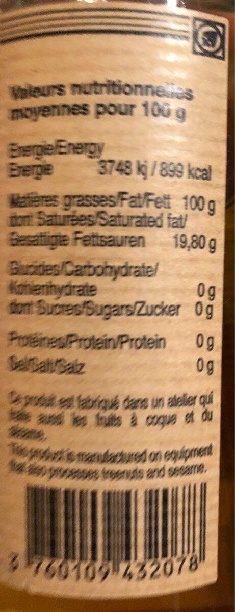 Huile de cacahuète toastée - Nutrition facts - fr