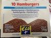 10 hamburgers - Produit