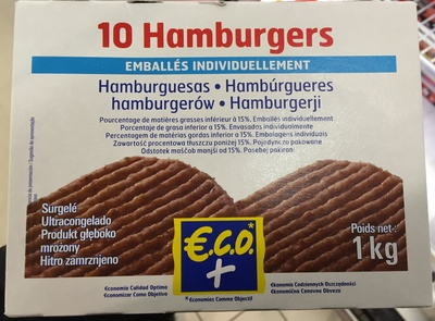 10 hamburgers - Product