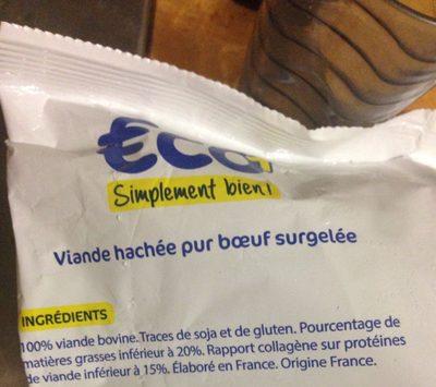 Viande hachée surgelée pur boeuf - Ingrédients - fr