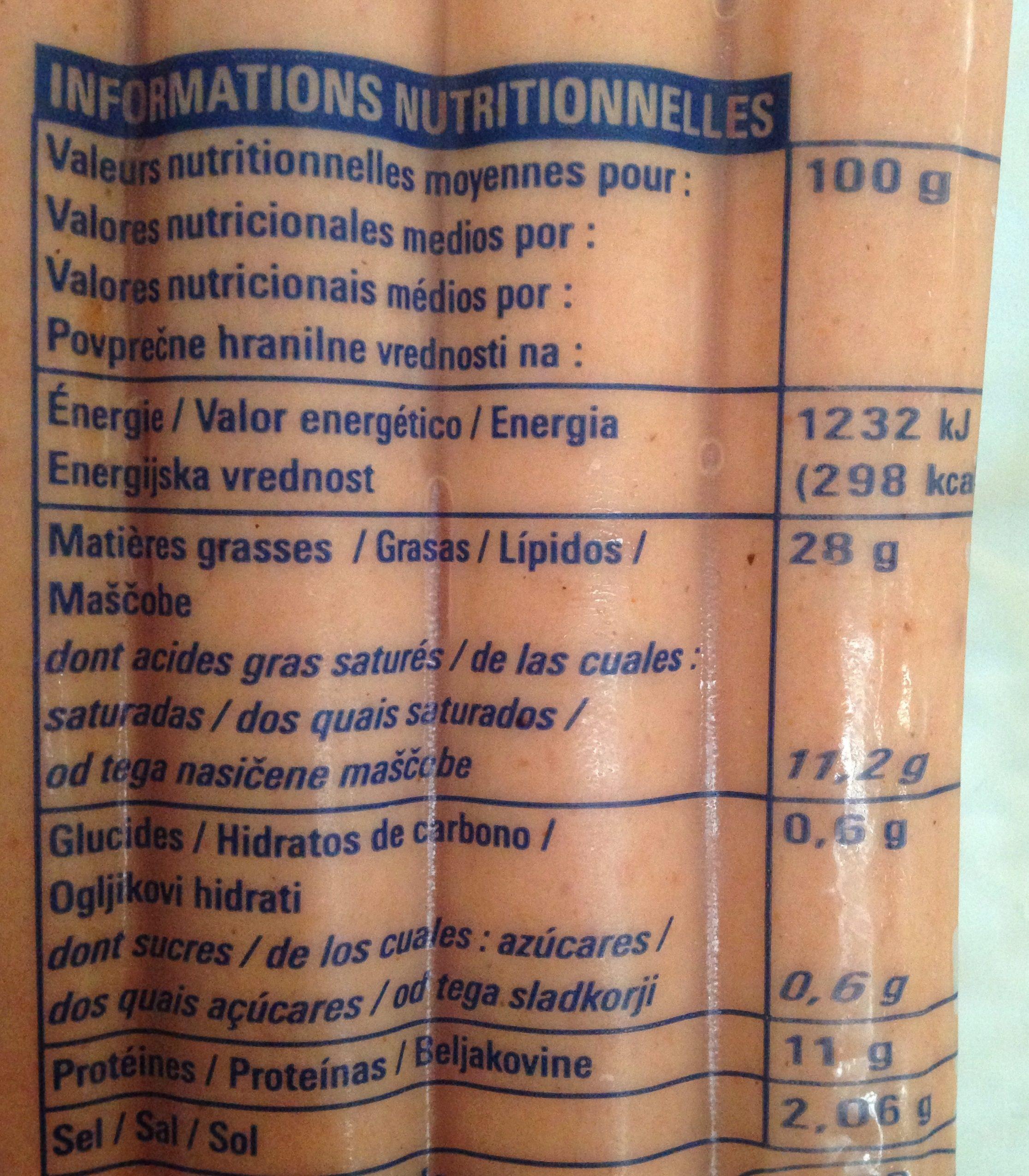 Knacks - Informations nutritionnelles - fr
