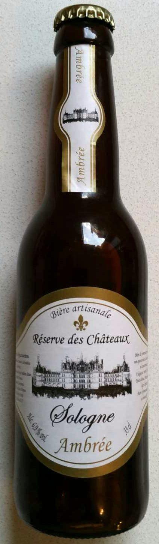 Sologne Ambrée Réserve des Châteaux - Produit