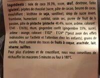 Macarons de riquewihr - Ingredients