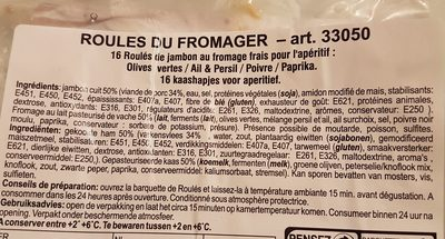 112G Poulet Roules Fromages X16 Etoile Vercors - Ingredients