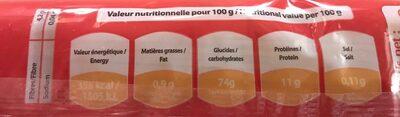 Spaghetti Rossini - Informations nutritionnelles - fr
