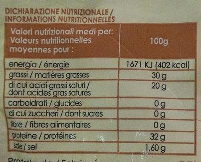 Parmigiano Reggiano DOP - حقائق غذائية - fr