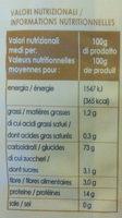 Caserecce - Voedingswaarden - fr