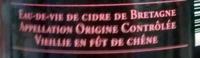 Lambig de Bretagne Hors d'Âge - Ingrédients