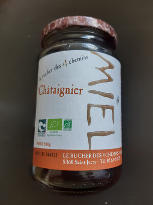 Miel Chataigner 500 G Origine Tarn Bio - Produit - fr