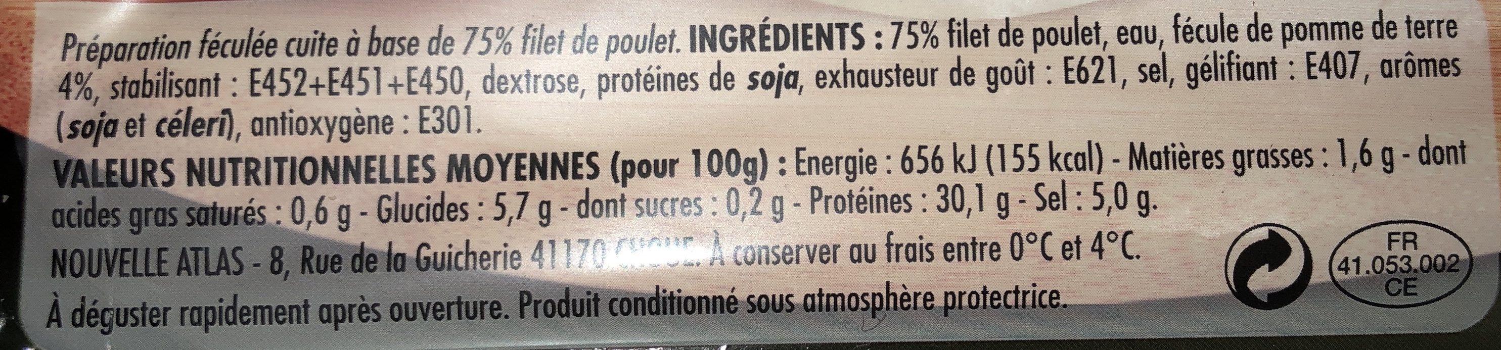 Delice de poulet - Ingrediënten - fr