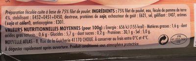 Delice de poulet - Voedingswaarden - fr