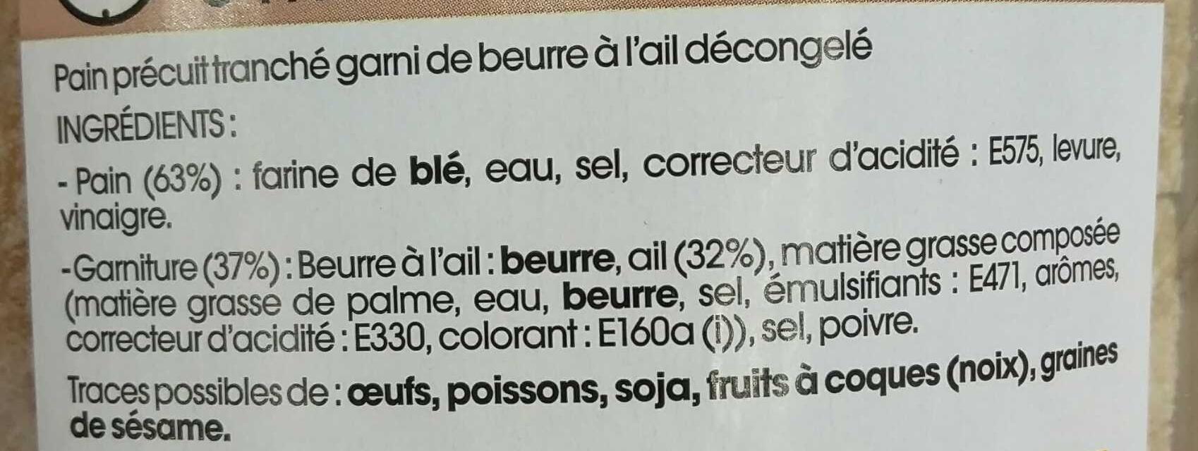Préfou Le Pain Apéritif Ail - Ingrédients - fr