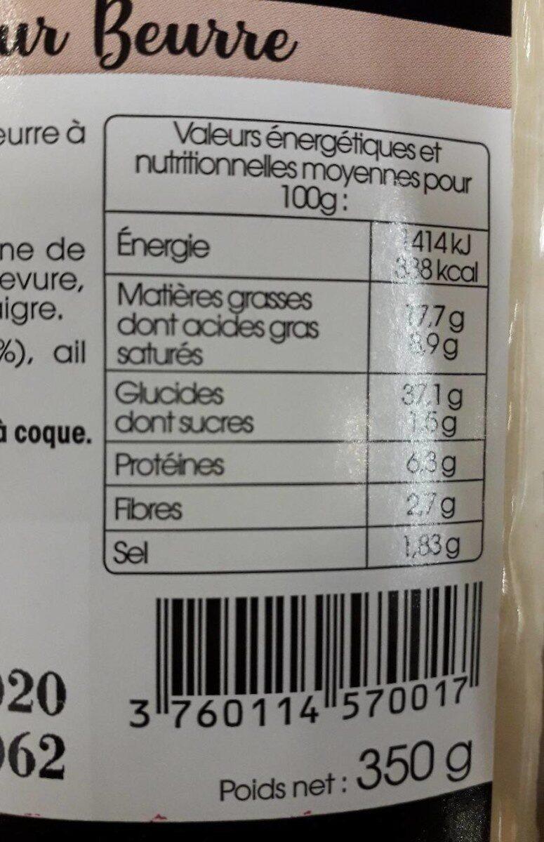 Préfou Le Pain Apéritif Ail - Informations nutritionnelles - fr