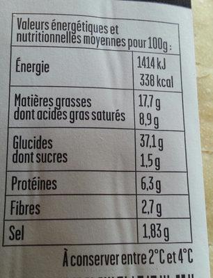 Préfou Ail - Nutrition facts - fr