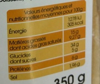 Préfou Le Pain Apéritif Tomate Basilic - Informations nutritionnelles - fr
