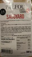 Préfou Savoyard - Produit - fr
