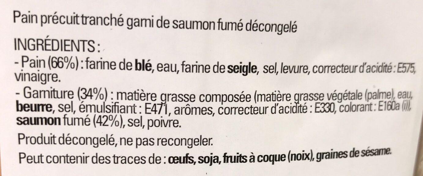 Prefou saumon fume - Ingrediënten - fr