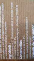 Pave de saumon bio fume - Ingrediënten