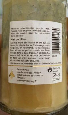 Miel de tilleul - Ingredients - fr
